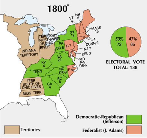 a report on the election of 1800 Bitter rivalries, character assassinations, an electoral deadlock and a tie-breaking vote in the house of representatives — the election of 1800 had it all.