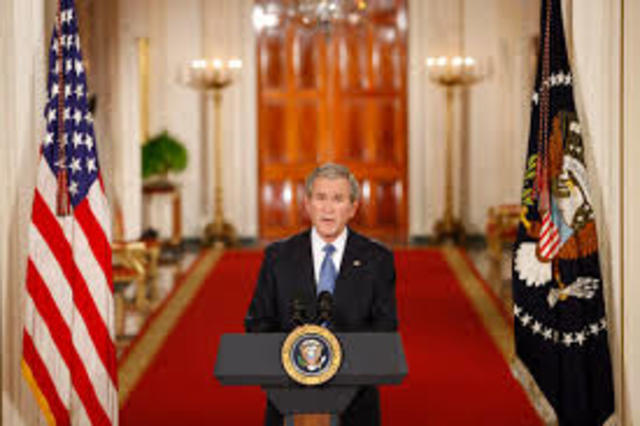 President George W. Bush gives his farewell address to the Nation