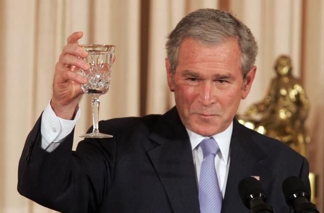 George Bush is inaugurated and gives his second inaugural address to the nation -