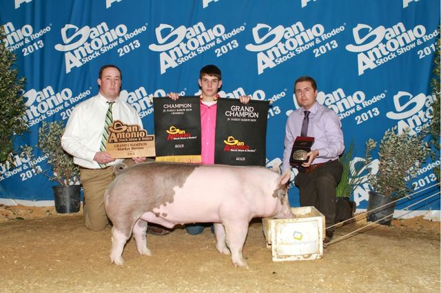I won Grand Champion pig at the Grimes County Fair