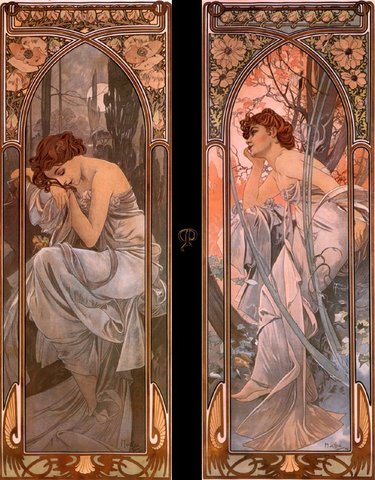 Evening Reverie, Alphonse Mucha