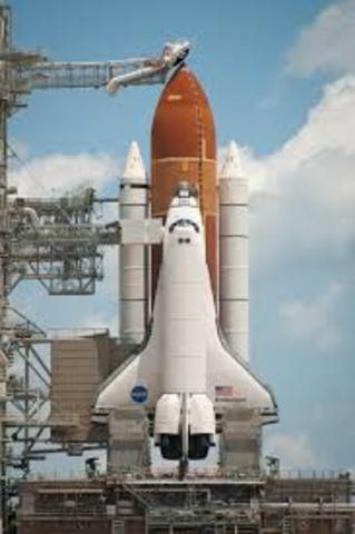 Space shuttle launched to fix earlier problems.
