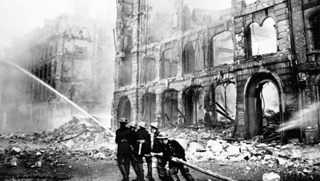Germany bombed London and the Battle of Britain began