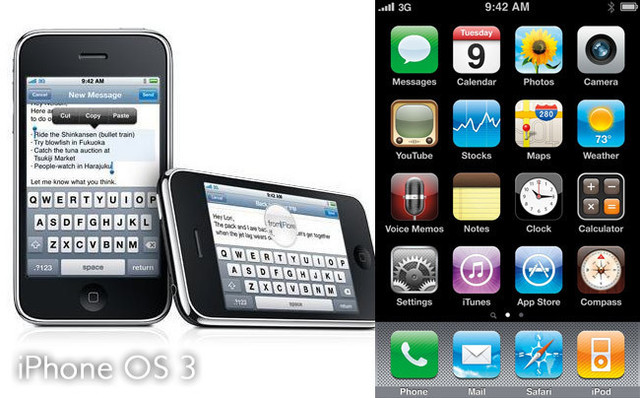 Corte, copie y pegue con iOS 3