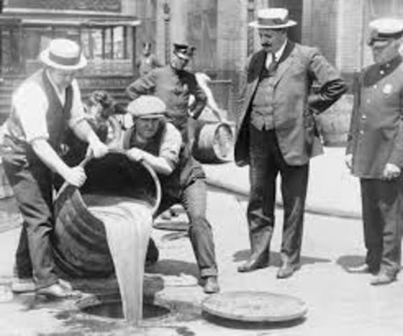 Volstead Act Sets Prohibition on Alcohol