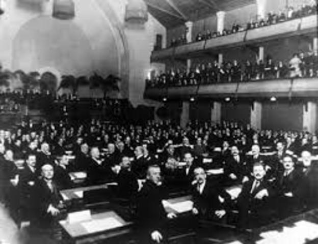 First Meeting of the League of Nations