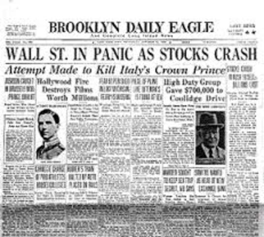 Stock market on Wall St. crashes