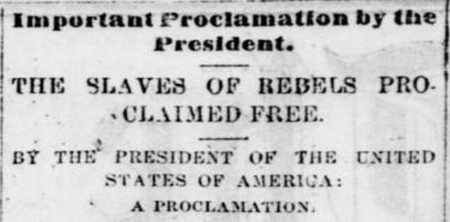 analysis of the emancipation proclamation speech