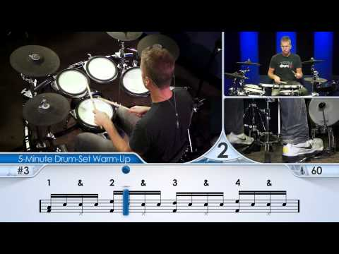 5 minute drum set warm up beginner drum lesson avec sous titres amara. Black Bedroom Furniture Sets. Home Design Ideas