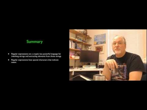 Python for Informatics - Chapter 11 - Regular Expressions thumbnail