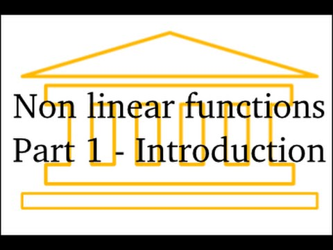 Non-Linear Functions : Part 1 (Introduction) thumbnail