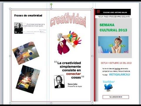 Cómo hacer un folleto en publisher ? with subtitles   Amara