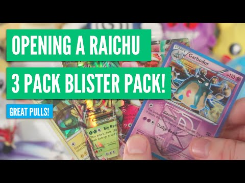 Opening a Raichu Target 3 Pack Blister - Awesome Pulls!   Pokemon Cards thumbnail
