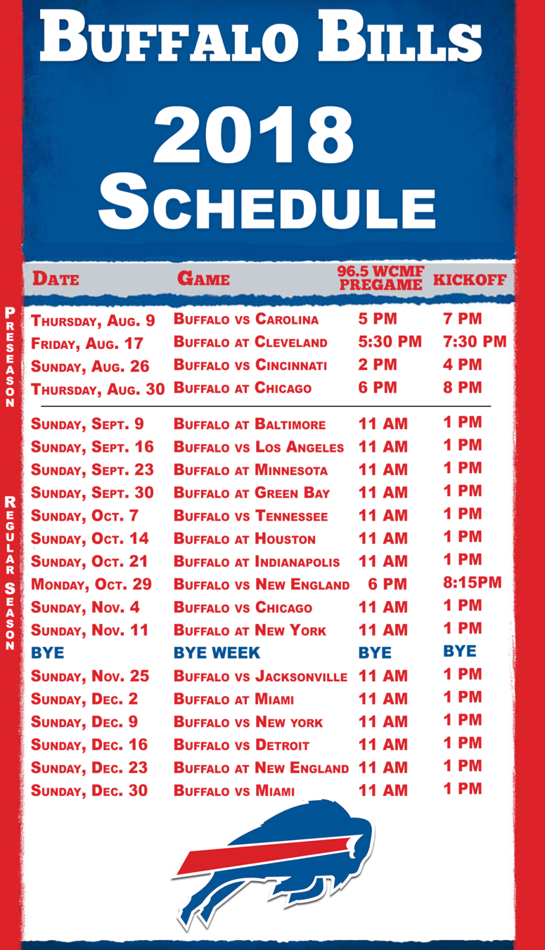 It is a picture of Crush Buffalo Bills Printable Schedule