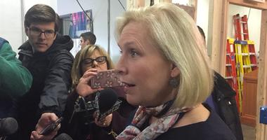 Gillibrand Comments on Trump Tweet in WNY Visit