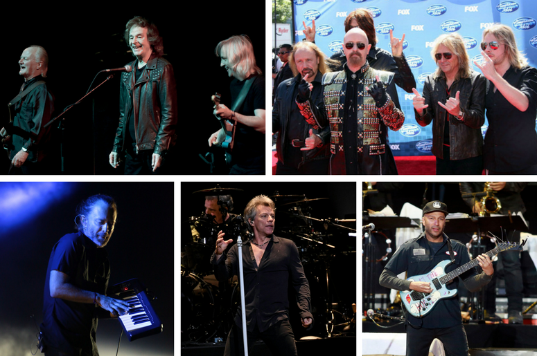 The Zombies, Judas Priest, Tom Morello of Rage Against the Machine, Thom Yorke of Radiohead, Jon Bon Jovi