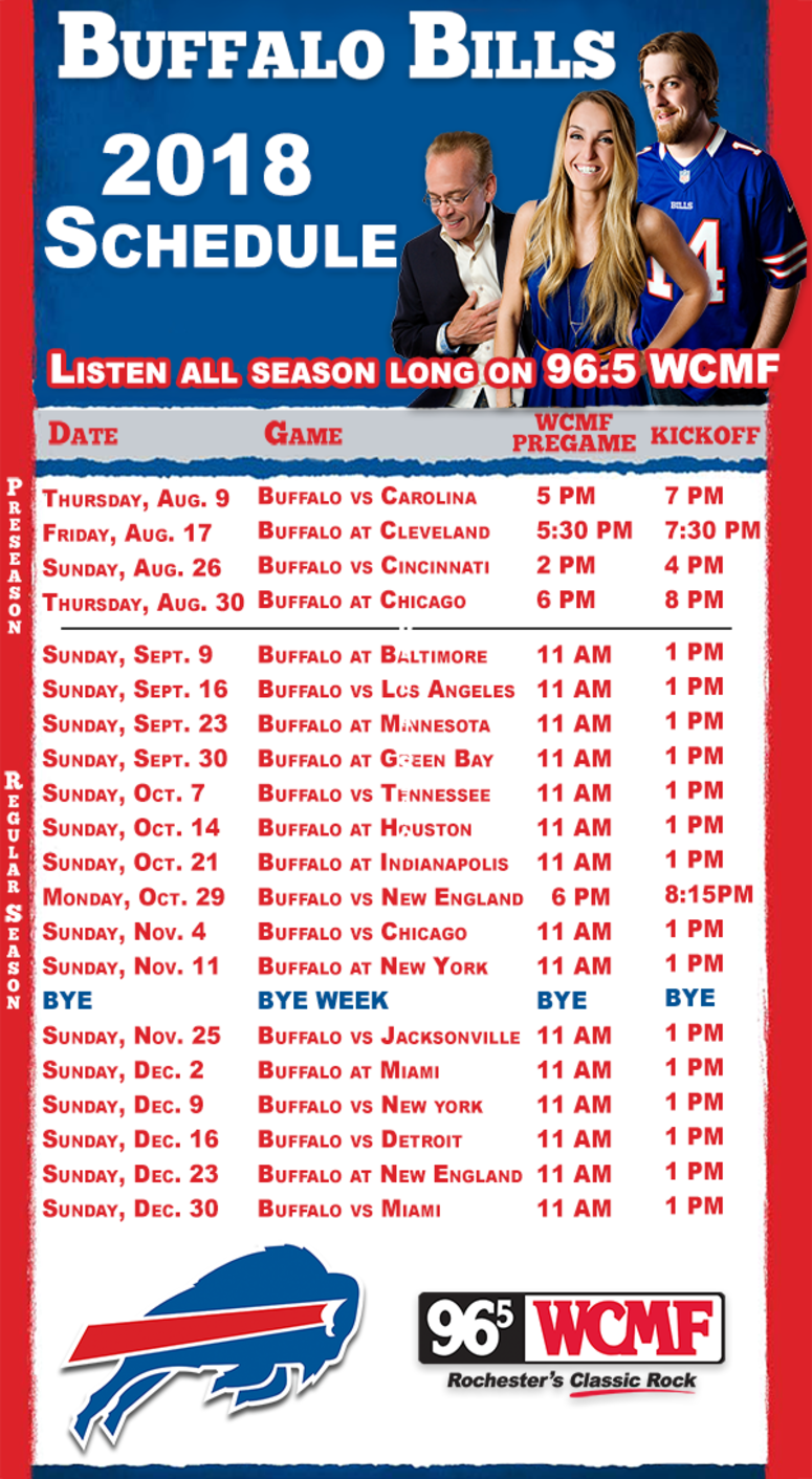 It's just a graphic of Adorable Buffalo Bills Schedule Printable