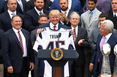Donald Trump and the Patriots.