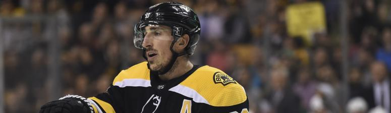 Brad Marchand meets Bruins in Toronto, expected to play vs. Maple Leafs