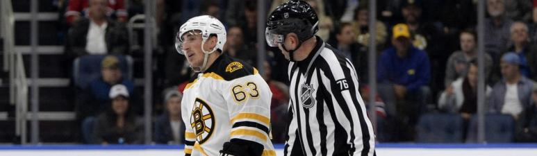 Brad Marchand rips NHL crackdown on faceoffs: 'It's an absolute joke'