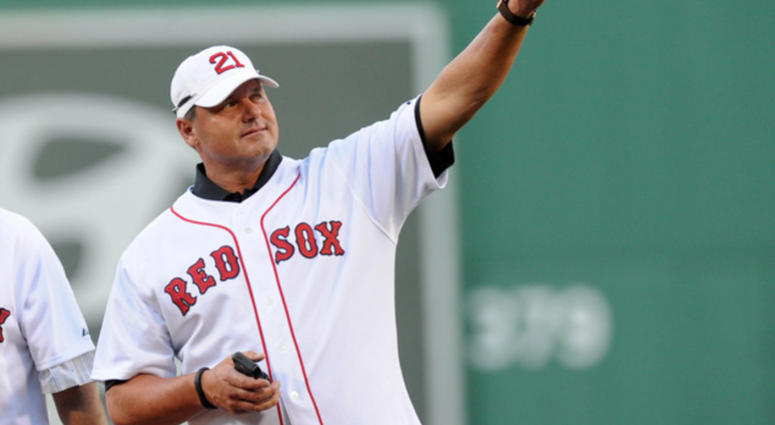 Roger Clemens at Fenway Park in 2013.