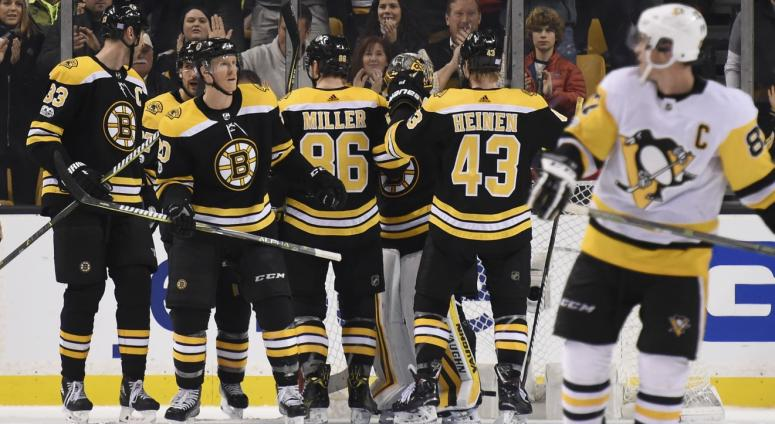 Bruins 4, Penguins 3: Youth embrace national spotlight in 4th straight win