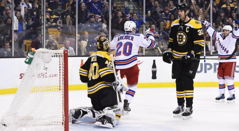 Rangers 3, Bruins 2: Bruins show fight, but lose 'goofy' game