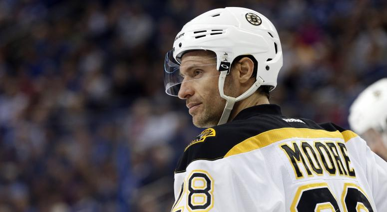 Dominic Moore wants to return to the Bruins next season.