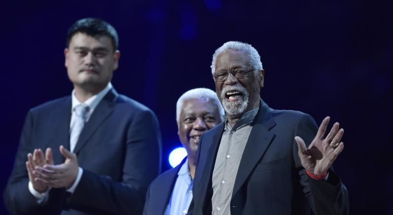 Bill Russell steals show at NBA Awards ceremony