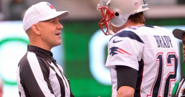 Clete Blakeman and Tom Brady