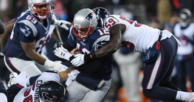 Tom Brady is sacked by Whitney Mercilus.