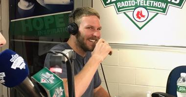 Video: Chris Sale joins OMF at Jimmy Fund Radio-Telethon
