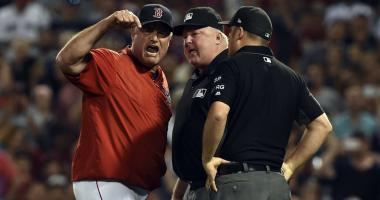 Ump claims Farrell poked him in the chest, leading to ejection