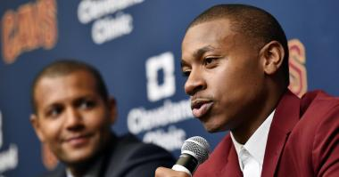 Isaiah Thomas takes defiant tone in Cavaliers press conference