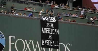 Sam Kennedy on OMF explains how large anti-racist banner was snuck into Fenway Park