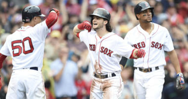 Andrew Benintendi, Mookie Betts, Xander Bogaerts, Red Sox