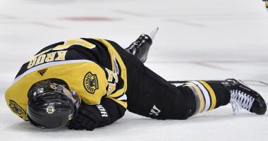 Bruins lose two NHLers to injury in win over Red Wings