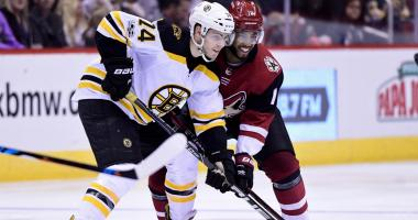 Bruins winger Jake DeBrusk will return to lineup vs. Coyotes