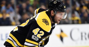 Bruins set to add David Backes, Brad Marchand back to lineup