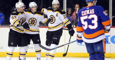 Bruins 5, Islanders 1: Bergeron Line gets scary good after goal against