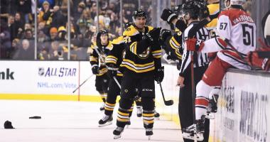 Bruins 7, Hurricanes 1: Patrice Bergeron scores 4 goals in rout