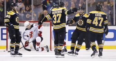 Bruins 3, Devils 2: Even an off night is enough to make it 17 in a row for Bruins