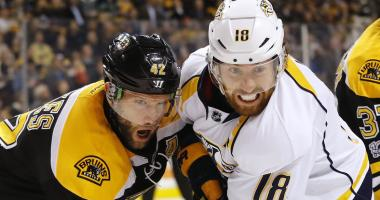 The Bruins will open next year against the Predators.