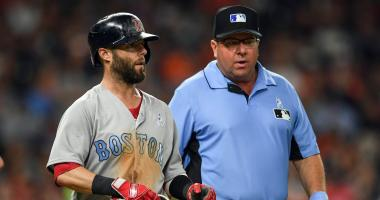 After spitting blood, Dustin Pedroia appears to have avoided serious injury