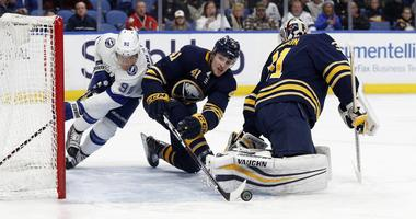 The Sabres were at their best down two men