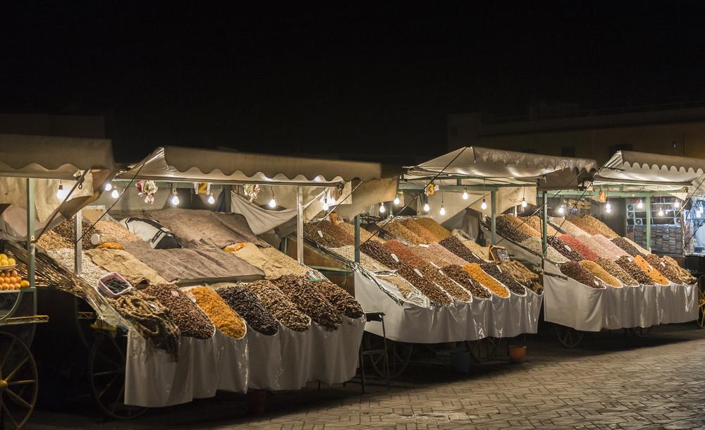 Night market in Jemaa el-Fnaa, Medina of Marrakesh_300649835