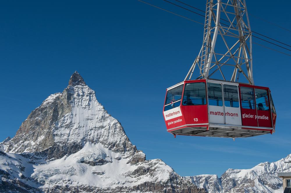 Cable car to Matterhorn Glacier Paradise at Zermatt_380826751