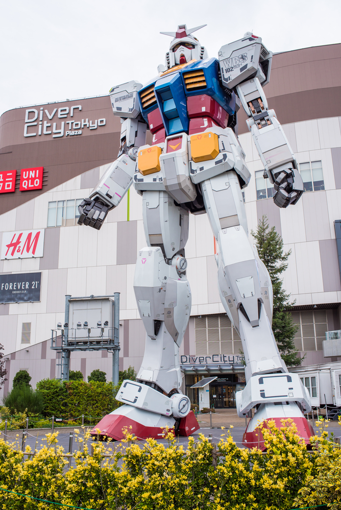 Statue of Gundam at DivercCity Tokyo Plaza in Tokyo_344318672
