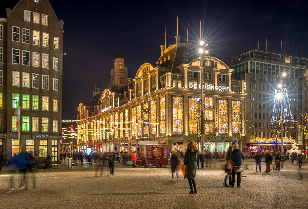 de Bijenkorf shopping mall on Dam square_349704437