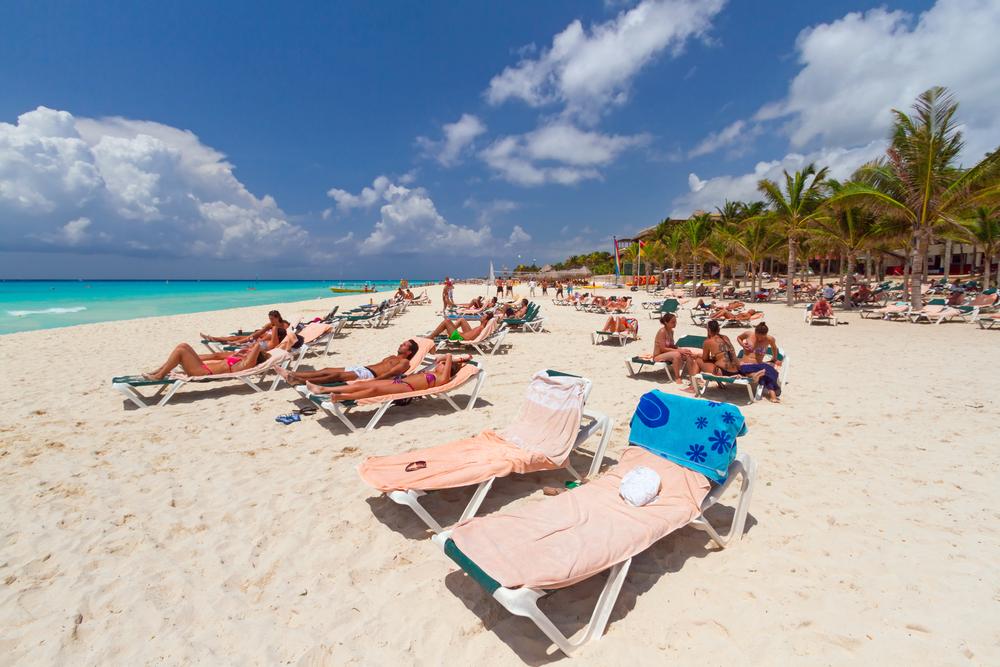 Playacar at Caribbean Sea in Mexico_149537756